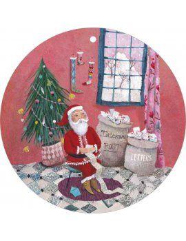 """Carte de Voeux """"La lettre au Père Noël"""" par IZOU"""