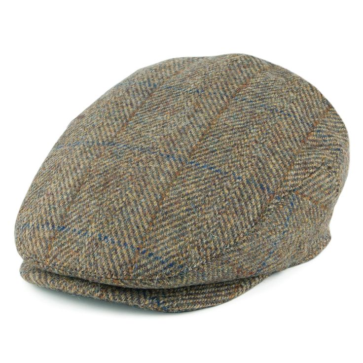 Jaxon & James Highlands Pure Wool Flat Cap - Olive from Village Hats.