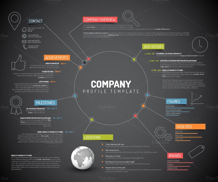 Dark Company Profile by Orson on @creativemarket