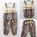 Nueva 2 Unidades Bebé Niñas Niños Niños pantalones chaleco de la Ropa Trajes Trajes Conjuntos