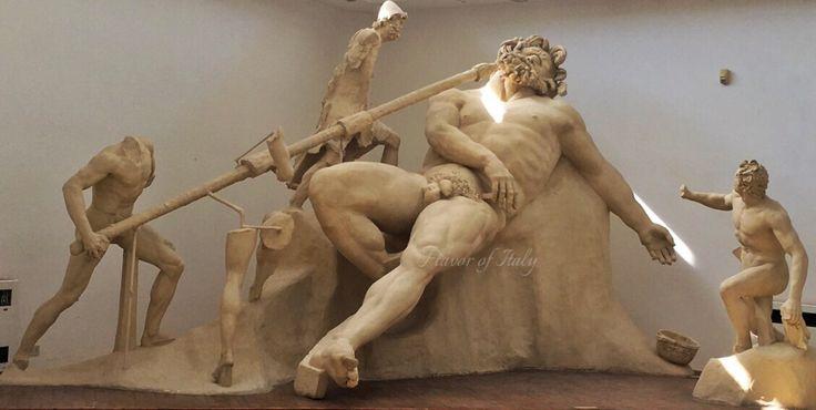 Blinding of cyclops Polyphemus sculpture, Villa Emperor Tiberius, Sperlonga