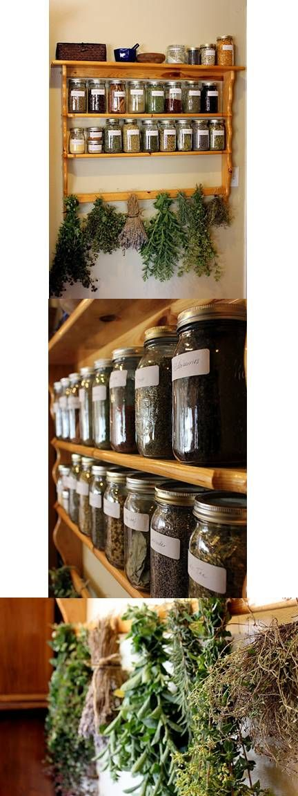 Herbal Pantry Shelf. i can't tell you how much I love this!!!: Gardens Witchery, Health Care, Herbs Gardens, Herbal Pantries, Hanging Herbs, Herbs Shelf Kitchens, Herbs Pantries, Pantries Shelf I, Herbs Oils Pots