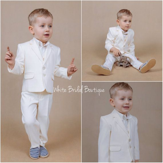 Ring bearer clothes Children groomsman outfit Toddler suit Boy suit Ready to ship Baby suit Baptism suit Wedding suit Wedding boy outfit