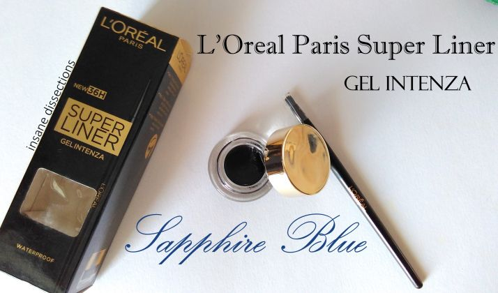 L'Oréal Paris Super Liner Gel Intenza  Sapphire Blue Review http://www.beautyscoopindia.com/loreal-paris-super-liner-gel-intenza-sapphire-blue-review/#loreal #gel #eyeliner #blue