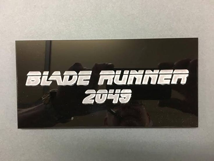 Blade Runner 2049. A thick black gloss acrylic plaque to commemorate the new Blade Runner film due for release 2017. Great gift for any fan. by EngraviaDigital on Etsy