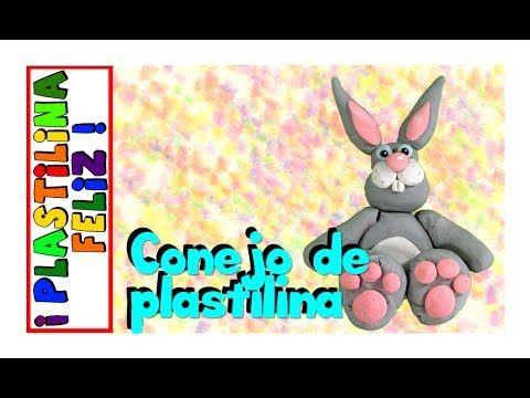 Conejo de plastilina, conejo en plastilina
