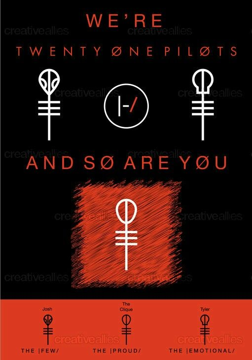 SYMBOL FOR THE CLIQUE https://creativeallies.com/creations/f6x4/contests/1088/design-a-poster-for-twenty-one-pilots