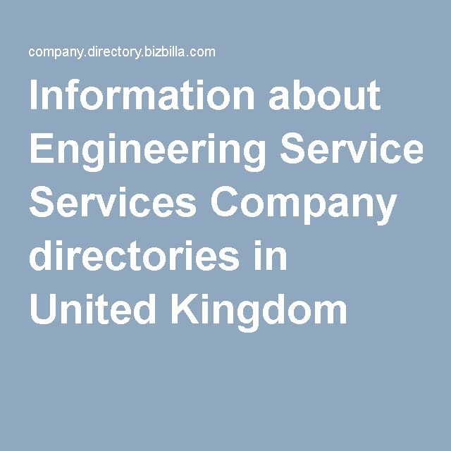 Information about Engineering Services Company directories in United Kingdom