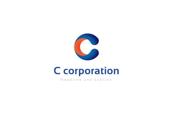 C corporation logo. by anton.akhmatov on @creativemarket