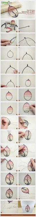 Jewelry Making Tutorial-Make Wire Wrapping Winter Tree Pendant   PandaHall Beads Jewelry Blog
