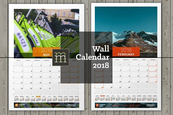 Wall Calendar 2017 (WC24) by mikhailmorosin on @creativemarket