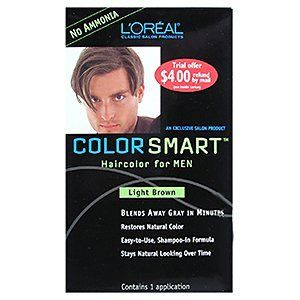 LOREAL Color Smart Haircolor for Men Light Brown One Application ** You can find more details by visiting the image link.Note:It is affiliate link to Amazon.
