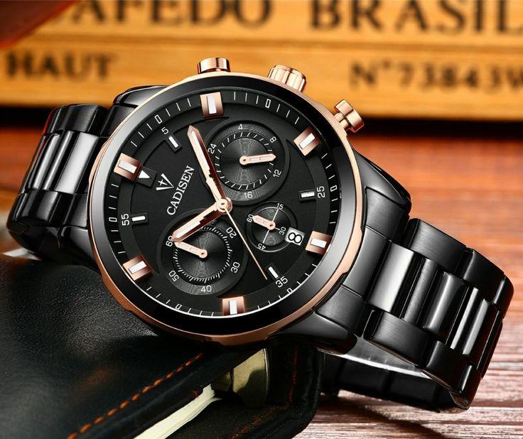 >> Click to Buy << CADISEN Original Brand Men's Watch Chronograph Watches Men Top Luxury Wristwatches Waterproof Classic Quartz Watch Male Clock  #Affiliate