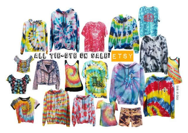 Etsy Tie-Dye by kaleidoscopekidco on Polyvore featuring Calavera, Calvin Klein, Buffalo David Bitton and Fabletics