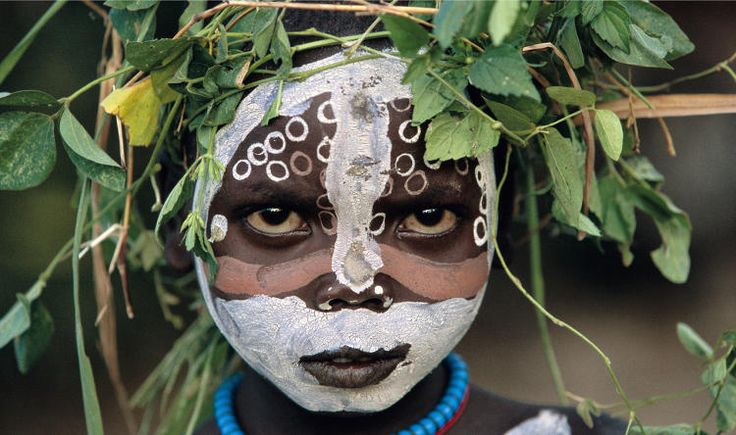 Omo girl in Ethiopia  ---------------------   (article where it was found not really about the image at all)