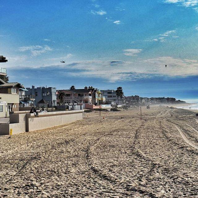 Empty beaches of San Diego