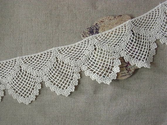 1 Yard Vintage style Cotton Crochet Lace Trim by naturalbalcony