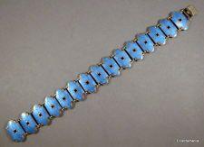 Vintage Norwegian Sterling Silver & Enamel Bracelet - Bernard Meldahl - Norway