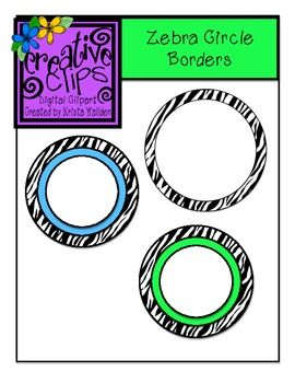 Free Clipart Border/Zebra Labels! Perfect for creating classroom decor and back to school organization!