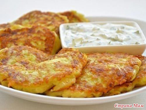 Оладьи из кабачков с сыром и чесноком - Меню на каждый день - Страна Мам