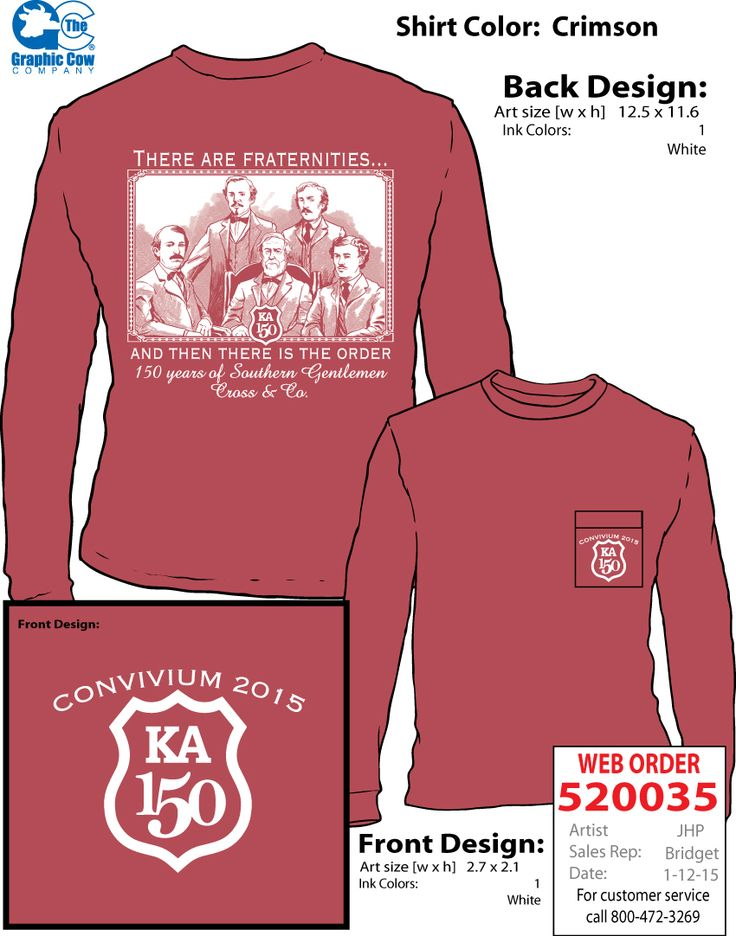 Kappa Alpha Order Founders Design Graphic Cow T Shirt