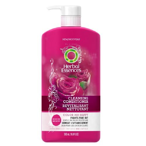 Herbal essences color me happy cleansing conditioner love thos. makes my fried bleached hair so soft