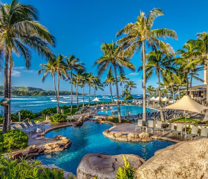 The pool at the Turtle Bay Resort.