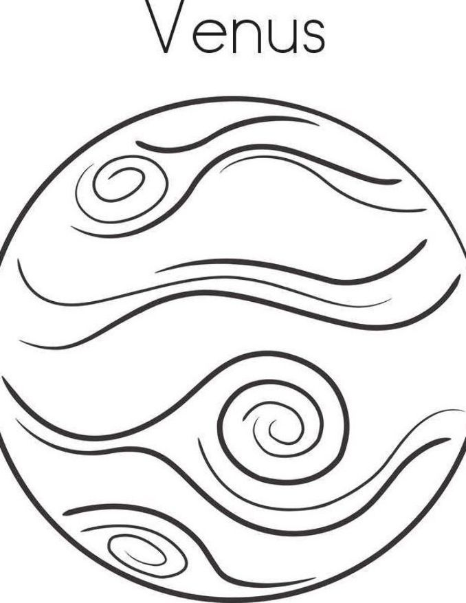 Planet Venus Coloring Pages Planet Coloring Pages Collection Planet Coloring Pages Coloring Pages Coloring Pages For Kids