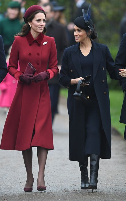 25 December 2018 - British Royals attend Christmas Day service at St Mary  Magdalene Church in Sandringham - coat by Victoria Beckham df46f46adfdb