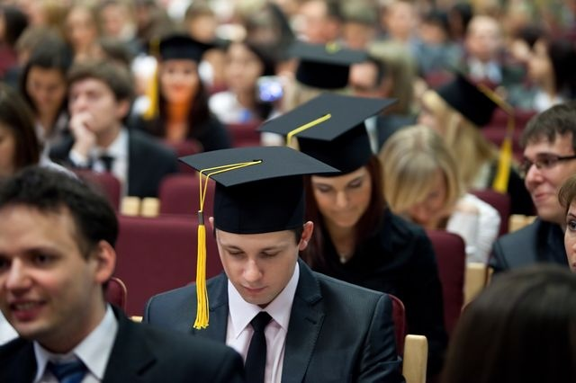 Graduates of the Faculty of Finance and Insurance 2011 - ceremony at our University