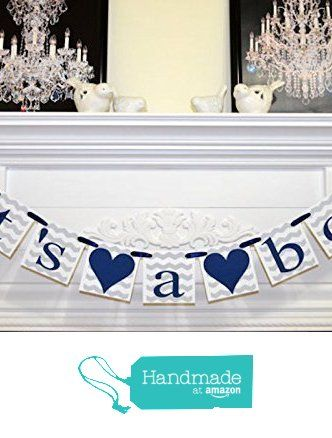 It's a Boy baby shower banner, Navy blue and gray chevron baby shower banner, sprinkle decorations, Navy chevron stripes baby boy banner from ANY OCCASION BANNERS AND GARLANDS https://www.amazon.com/dp/B019UIW5RI/ref=hnd_sw_r_pi_dp_gNVHwb1JWWH9K #handmadeatamazon