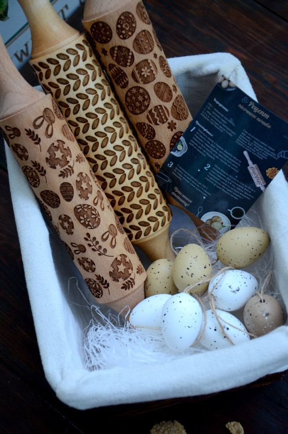 11 best easter gifts images on pinterest easter gift easter kitchen gift set of 3 small rolling pin by happyrollingpin negle Choice Image