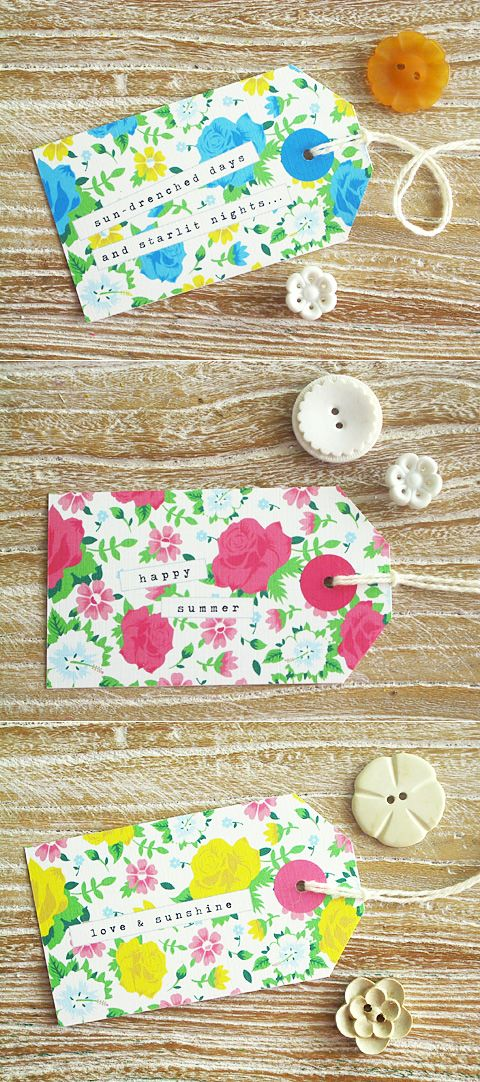 Summer Floral Gift Tags » Eat Drink Chic