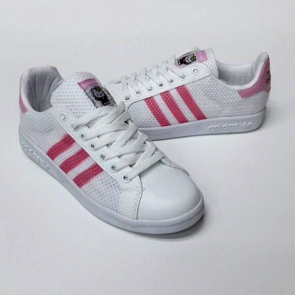 Adidas Superstar Beyaz Pembe Renk Kırmızı Çizgili File Kaplama Spor Ayakkabı   WhatsApp Bilgi Hattı ve Sipariş : 0 (541) 2244 541  www.renkliayaklar.net