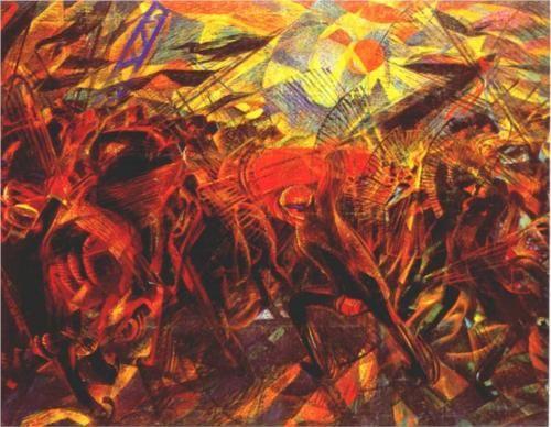 The Funeral of the Anarchist Galli - Carlo Carra. Anarhist Galli matused