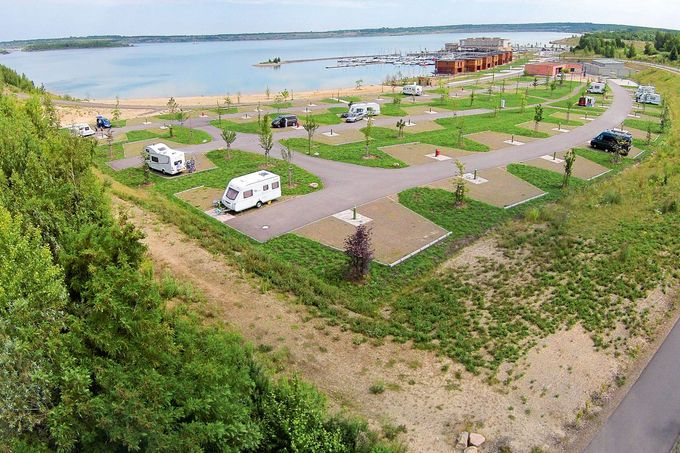 Wohnmobil Stellplatz Lagovida, Sturmthaler See, Leipziger Neuseeland, Sachsen Empfohlen von http://www.janremo.de