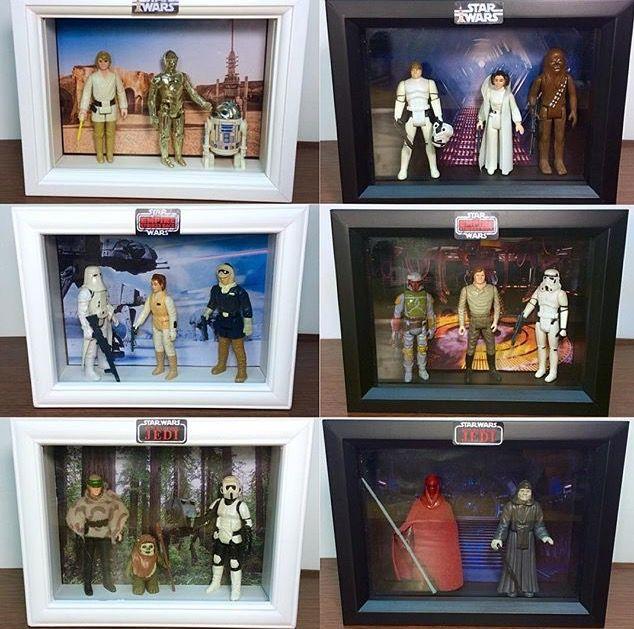Great way to display vintage Star Wars figure