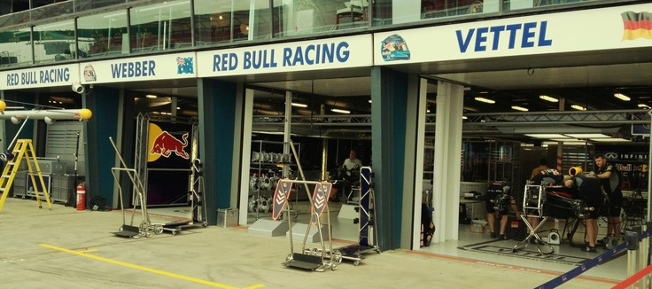 Red Bull Racing Garages - Melbourne 2013