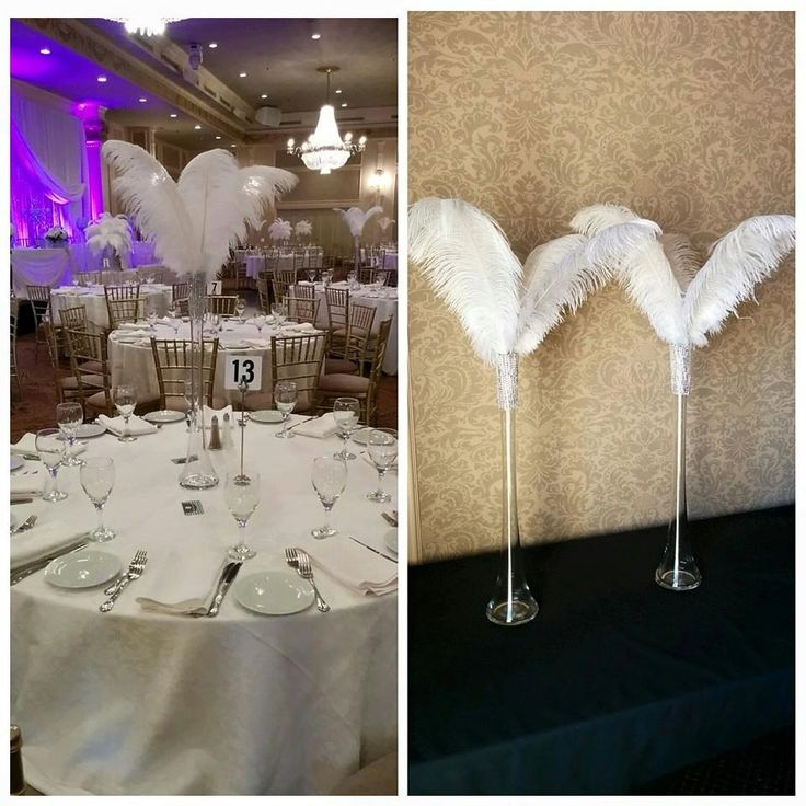 """$35--24"""" Eiffel Tower Simple Inspired Ostrich Feather Centerpiece by Featherology2 on Etsy"""
