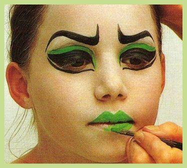 M s de 1000 im genes sobre maquillaje en pinterest - Como pintar la cara de nina de bruja ...