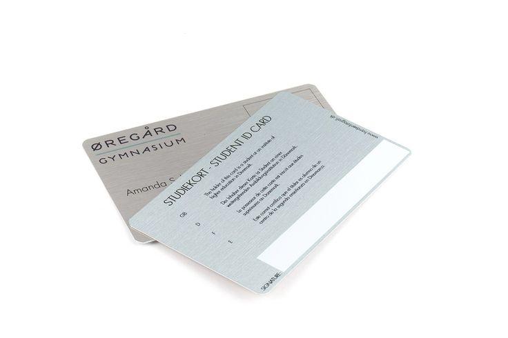 Studiekort i metal - Luksus Tryk ApS