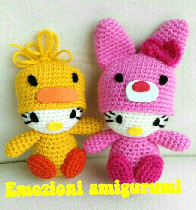 Kitty rabbit and chick