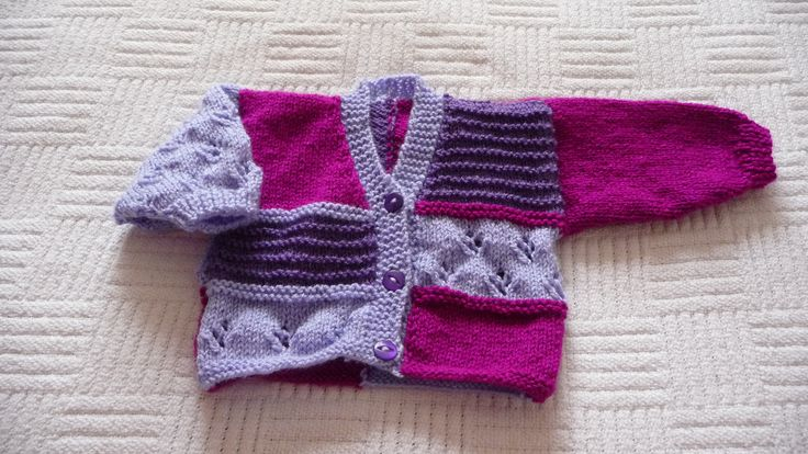 Colour change 6. I have knitted this cardigan in many different colours. Can't make up my mind which I prefer!