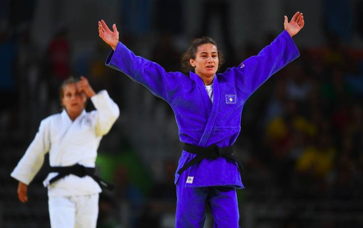 Kosovo's Majlinda Kelmendi made history when she won her first country's first ever Olympic medal, and it's gold. She won for judo.