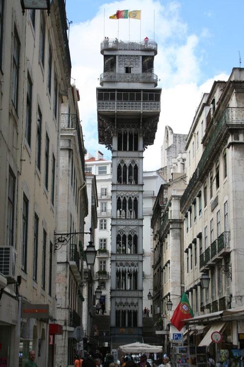 Santa Justa, Lisboa...my beloved city, and the street lift designed by Mr. Eiffel