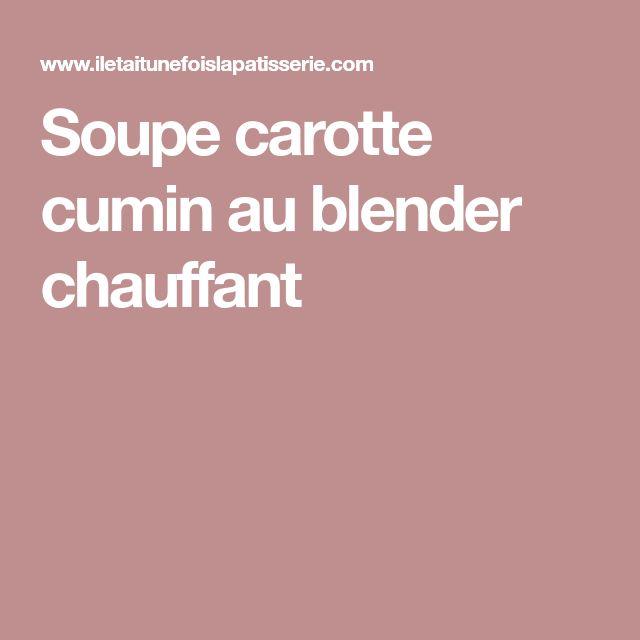 24 best blender recette images on pinterest soupes pommes de terre et aimer - Puree au blender chauffant ...
