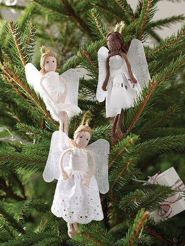 knitted angelsCrafts Ideas, Christmas Home, Christmas Cheer, Angels Dolls, Adorable Angels, Christmas Angels, Christmas Ideas, Christmas Gift, Collection Angels