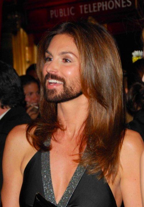 facial fake hair beard with crawford a Cindy