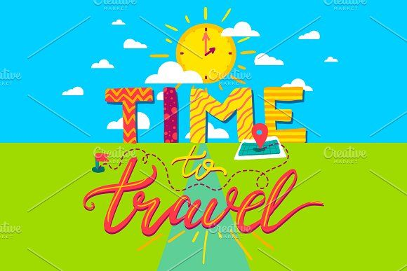 Time To Travel by barsrsind on @creativemarket