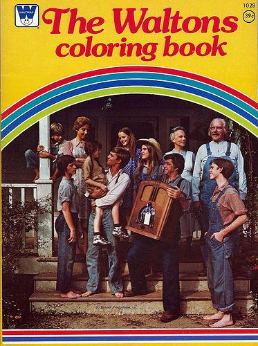 The Waltons Coloring Book Based On American Television Series For CBS Of